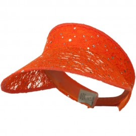 Lace Glitter Sun Visor - Orange