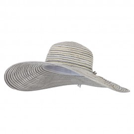 Ladies Metallic Toyo Braid Flat Wide Brim Sun Hat