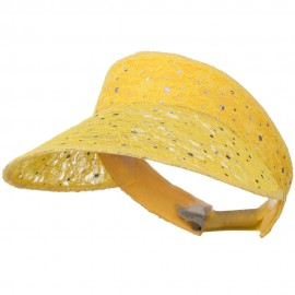 Lace Glitter Sun Visor - Yellow