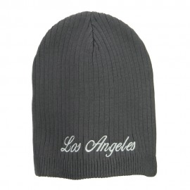 Los Angeles Embroidered Big Ribbed Beanie
