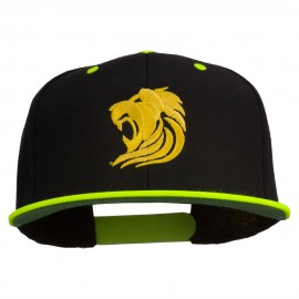 Gold Lion Embroidered Snapback Cap
