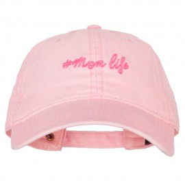 Mom Life Embroidered Washed Cotton Twill Cap