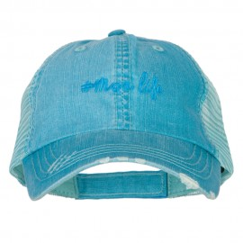 Mom Life Embroidered Low Profile Cotton Mesh Cap