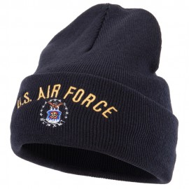 US Air Force Logo Military Embroidered Long Beanie