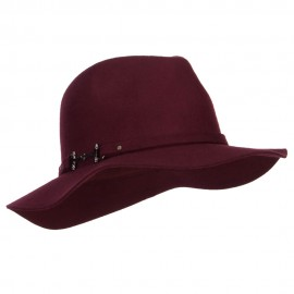 Metal Buckle Wool Panama Hat