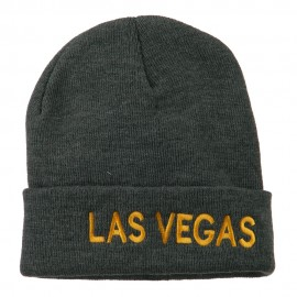 Las Vegas Embroidered Long Beanie