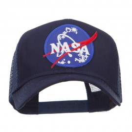 Lunar Landing NASA Patched Mesh Back Cap - Navy