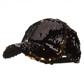Ladies Multi Tone Sequins Baseball Cap