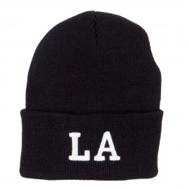 LA Louisiana State Embroidered Long Beanie