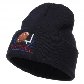 Football Logo Embroidered Long Beanie