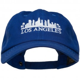 Los Angeles Skyline Embroidered Washed Cap