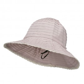 Crushable Bucket Hat With Flower Accent
