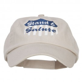 Stand Salute Embroidered Pet Spun Cap