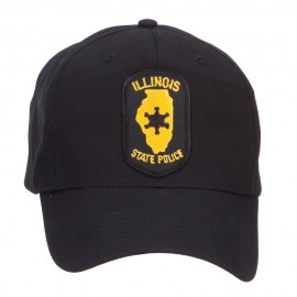 Illinois State Police Patched Cap - Black
