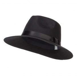 Large Brim Ribbon Band Fedora