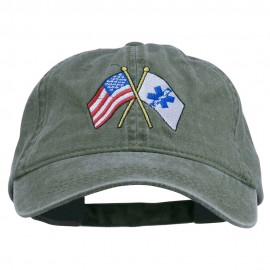 Flags Star of Life Embroidered Washed Cap