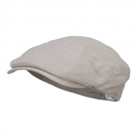 Men's Linen Summer Ivy Cap - Beige