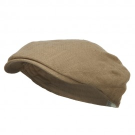 Men's Linen Summer Ivy Cap - Mocha