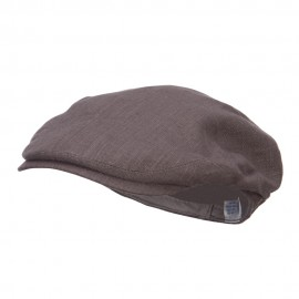 Men's Linen Summer Ivy Cap - Charcoal
