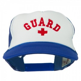 Life Guard Cross Embroidered Foam Mesh Back Cap