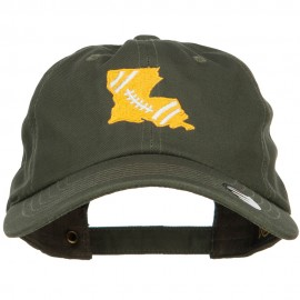 Louisiana Football State Map Embroidered Unstructured Cap
