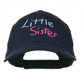 Youth Little Sister Embroidered Cotton Cap