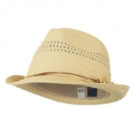 Ladies Toyo Braid Fedora Hat - Natural