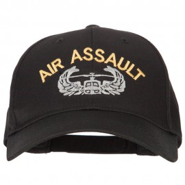 US Army Air Assault Logo Embroidered Solid Cotton Pro Style Cap
