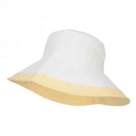 Reversible Solid Color Bucket Hat - Yellow