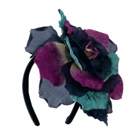 Large Velvet and Silk Flower Headband