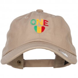 Rasta One Love Embroidered Unstructured Cap