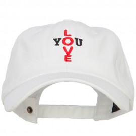 Love You Cross Words Embroidered Cotton Cap