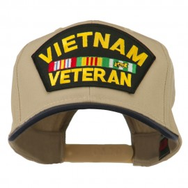 Vietnam Veteran Large Patch Cotton Twill Cap