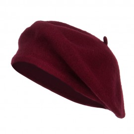 Ladies Wool Beret - Burgundy