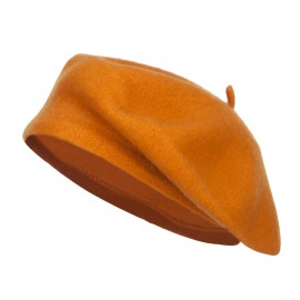 Ladies Wool Beret - Mustard