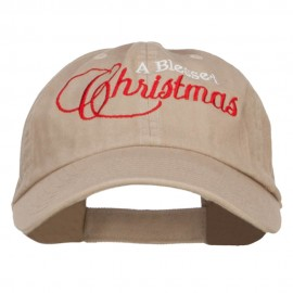 Blessed Christmas Embroidered Low Cap