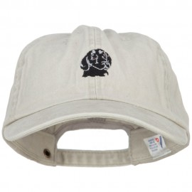 Labrador Retriever Head Embroidered Washed Cotton Twill Cap