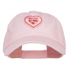Valentine's Day Patched Low Cotton Cap