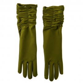 Mid Arm Length Shiny Glove - Green