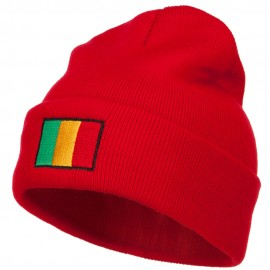 Mali Flag Embroidered Long Beanie