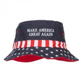 Make America Great Again Embroidered Flag Hat - Flag