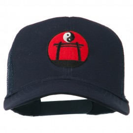 Martial Arts Yin and Yang Embroidered Mesh Cap