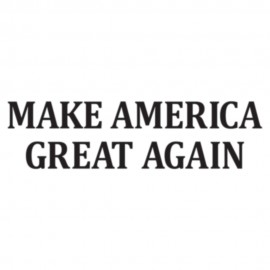 Make America Great Again Letters Heat Transfers Sticker