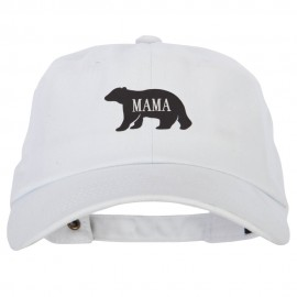 Mama Bear Design Heat Transfer Unstructured Cotton Twill Washed Cap