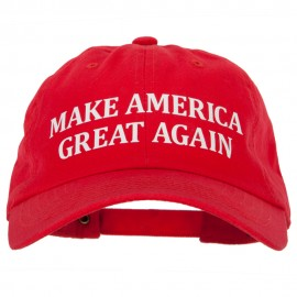 Make America Great Again Heat Transfer Unstructured Cotton Washed Cap