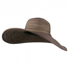 UPF 40+ Metallic Blend Wide Brim Hat - Brown
