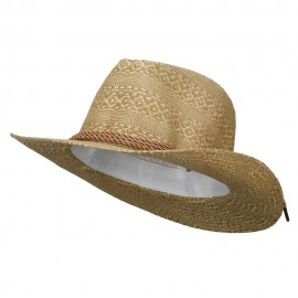 Men's Mix Braid Large Brim Fedora