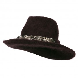 Metal Band Angora Cowboy Hat