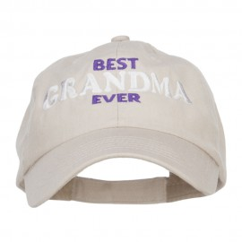 Best Grandma Ever Embroidered Low Cap