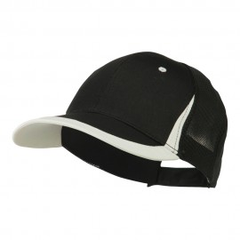 Mesh Cotton Structured Cap - Black White